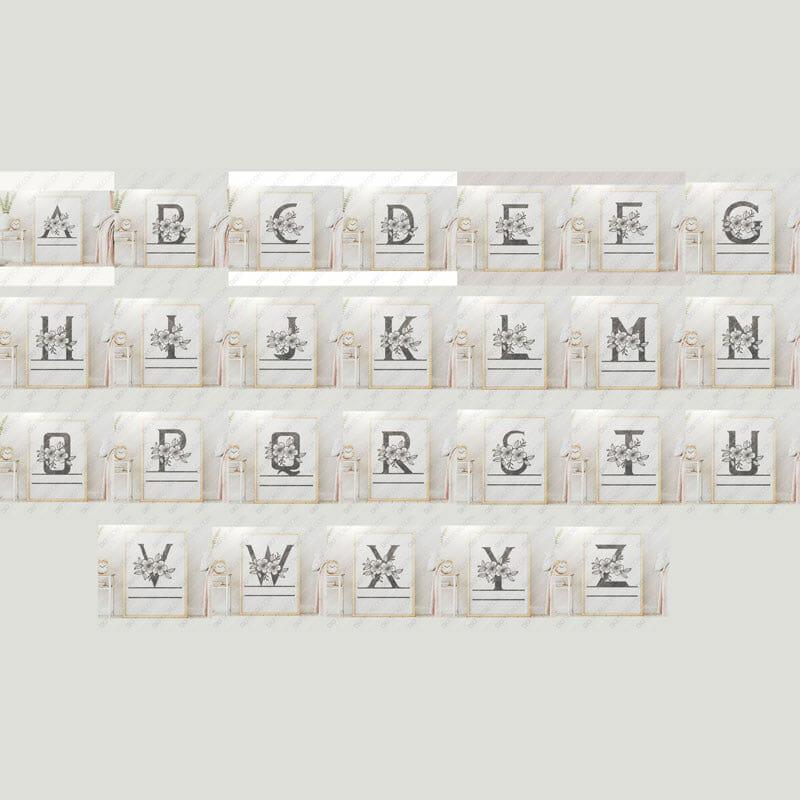 Split Monogram Floral All Letters Split Monogram Initials Cut-Ready Plasma Cut DXF File Download for CNC Laser Cut