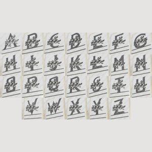 Split Monogram Floral All Letters Split Monogram Initials DXF File Plasma and Laser Cut for CNC Laser and Plasma Cut