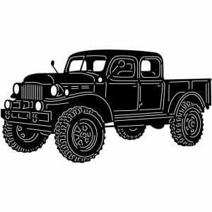1949 Dodge Power Wagon Legacy Classic Truck DXF file for Plasma and Laser Cut for CNC