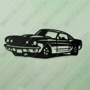 1967 Mustang GT Fastback Muscle Car Cut-Ready DXF File SVG File for CNC Plasma and Laser Cut