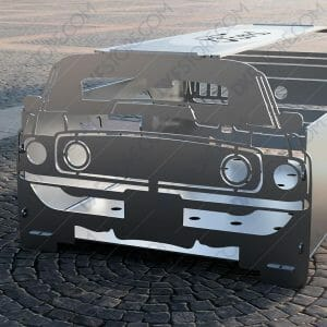 1969 Ford Mustang Collapsible Fire pit Muscle Car Portable Fire pit For CNC Plasma Cutter DXF File