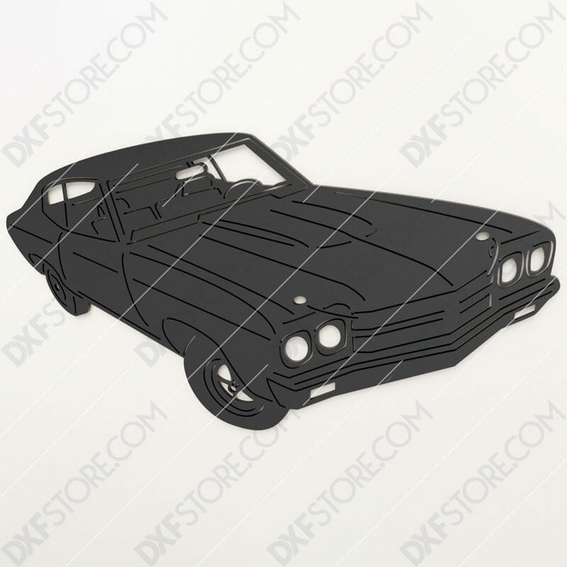 1970 Chevrolet Chevelle SS396 Muscle Car Cut-Ready DXF File SVG File for CNC Plasma and Laser Cut
