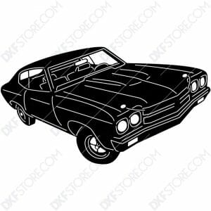 1970 Chevrolet Chevelle SS396 Muscle Car Cut-Ready DXF File for CNC Plasma Cut