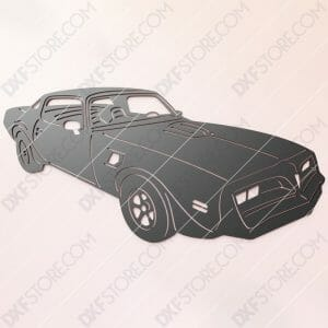 1978 Pontiac Firebird TRANS AM DXF File SVG File Cut-Ready for CNC Plasma and Laser Cut