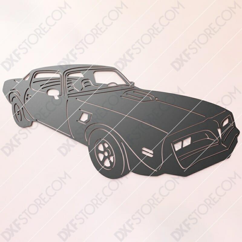 1978 Pontiac Firebird TRANS AM DXF File SVG File Cut-Ready for CNC Plasma and Laser Cut