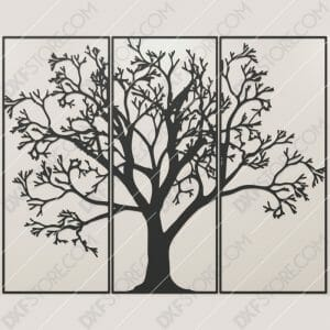 3 Pieces Tree Of Life Downloadable for CNC Plasma DXF Files Download