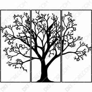 3 Pieces Tree Of Life Plasma Art for CNC Plasma Cut Cut-Ready DXF File for CNC