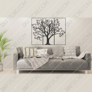 3 Pieces Tree Of Life Plasma and Laser Cut for CNC Laser and Plasma Cutter