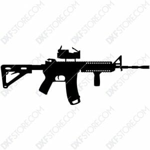 AR-15 Rifle Free DXF File Cut-Ready Plasma Cut DXF File for CNC Plasma and Laser Cut