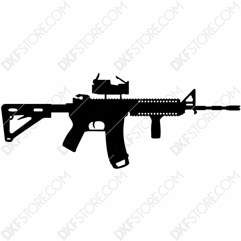 AR-15 Rifle Free DXF File Cut-Ready Plasma Cut DXF File for CNC Plasma and Laser Cut