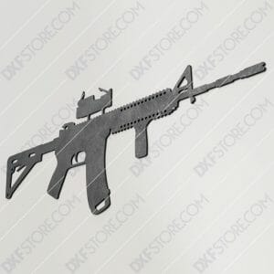AR-15 Rifle Free DXF File Plasma and Laser Cut for CNC Laser and Plasma Cutter