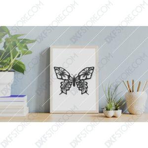 Butterfly Template Flower Ornament CNC Plasma Cut CNC File