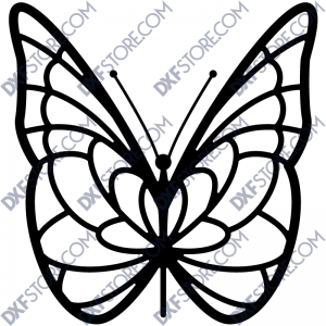 Butterfly Template Laser Cut - Free DXF File