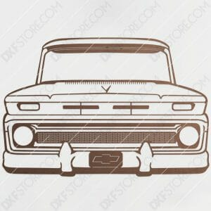 Chevy Vintage Truck Custom Order DXF File Plasma Art Metal Sign DXF Download Plasma and Laser Cutter DXF File