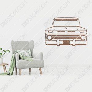 Chevy Vintage Truck Custom Order DXF File Plasma Art for CNC Plasma Cut Cut-Ready DXF File for CNC