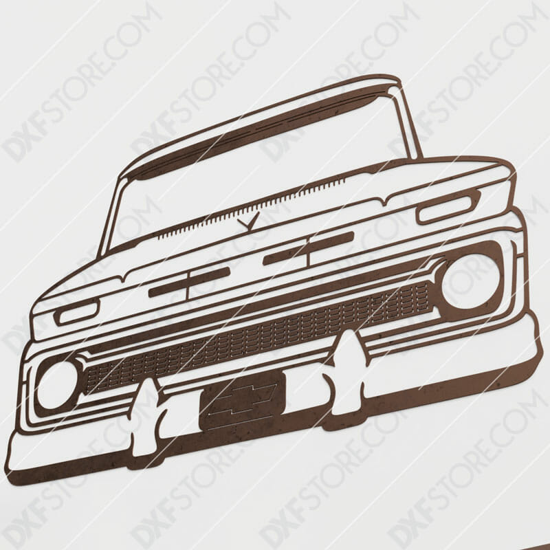 Chevy Vintage Truck Custom Order DXF File Plasma and Laser Cut for CNC Laser and Plasma Cutter