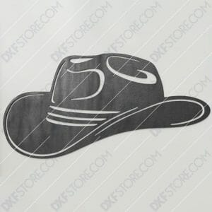 Cowboy Hat Free DXF File Plasma Art Metal Sign Plasma and Laser Cutter DXF File