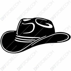 Cowboy Hat Free DXF File Plasma Art for CNC Plasma Cut Cut-Ready DXF File for CNC