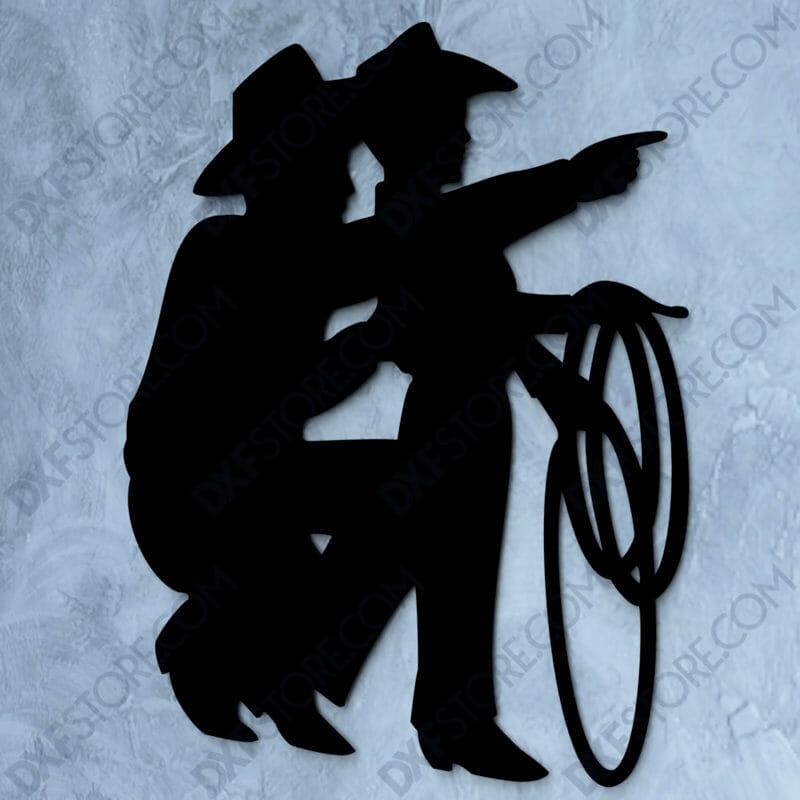 Cowboy Son Free DXF File-1