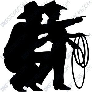 Cowboy Son Free DXF File-3
