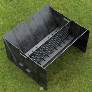 Custom Order - Fire Pit Collapsible Plancha Grill and Grill Indirect Cooking Ribs Plasma Cut CNC File