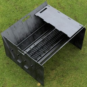 Custom Order - Fire Pit Collapsible Plancha Grill and Grill Indirect Cooking Ribs Plasma and Laser Cut CNC