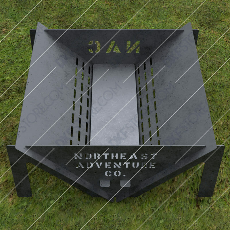 Custom Order - Fire Pit With Decorative Logo and Text on Sides Plasma and Laser Cut DXF File