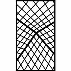 Decorative Privacy Screen Abstract and Floral-7