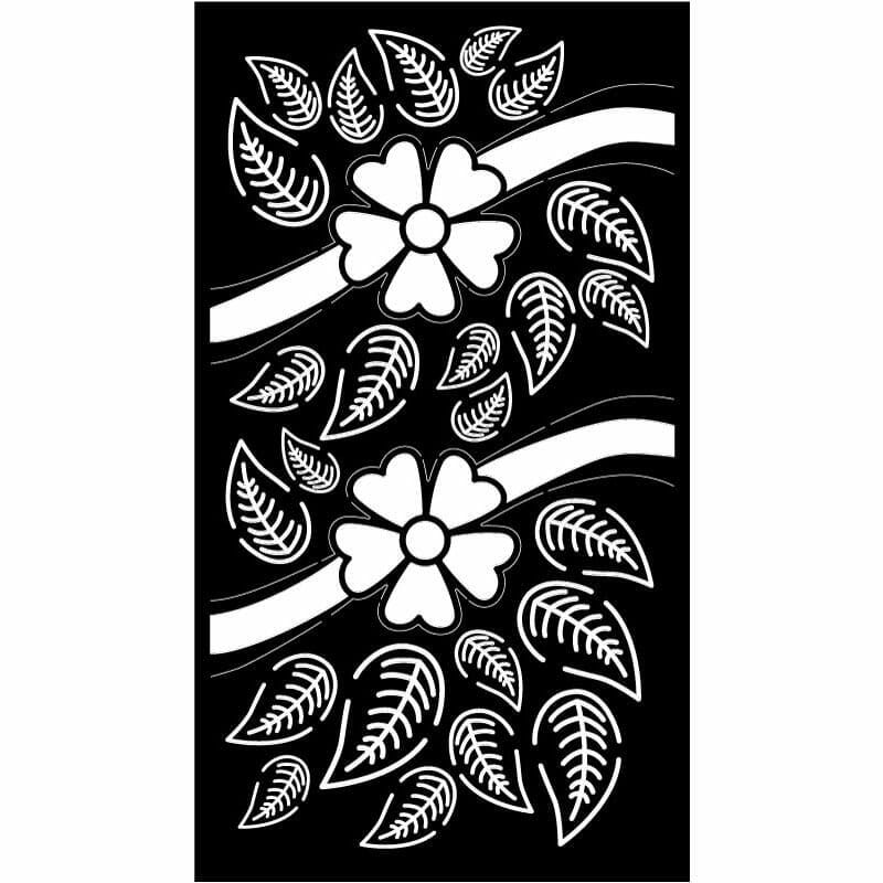 Decorative Privacy Screen Abstract and Floral-3