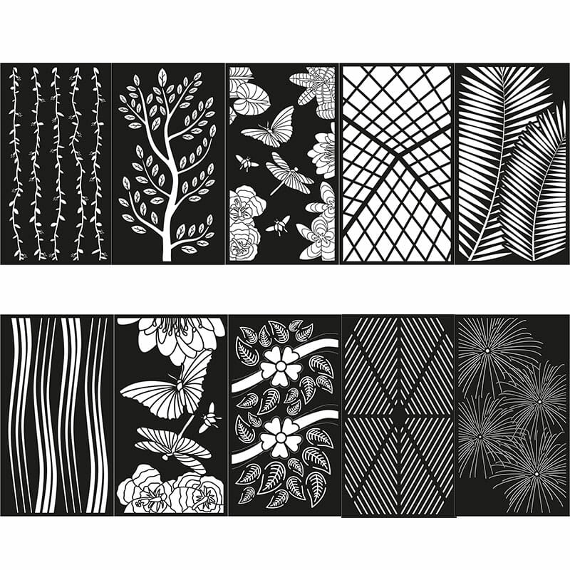 Decorative Privacy Screen Abstract and Floral