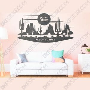 Desert Night Scene Custom Order DXF File Downloadable DXF for CNC Plasma DXF Files Download