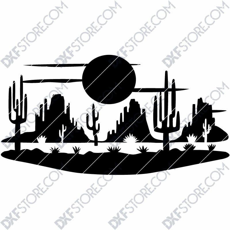 Desert Night Scene Plasma Cut