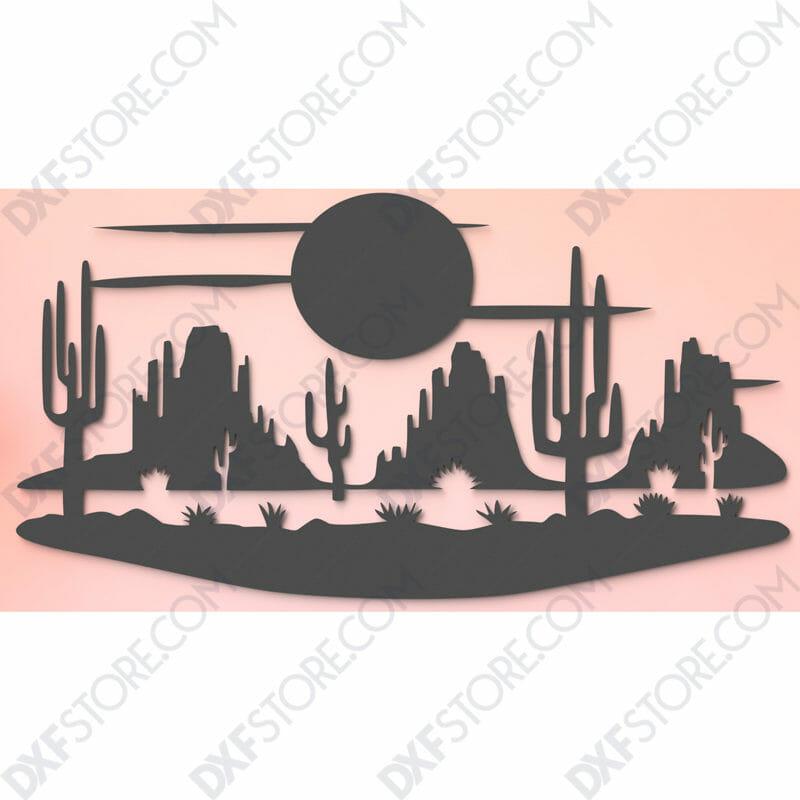 Desert Night Scene for CNC
