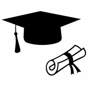 Diploma Hat and Diploma Roll - Free DXF File