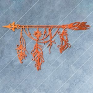 Dream Catcher Arrow and Feathers Boho Sign Plasma Cut DXF File Cut-Ready for CNC Plasma and Laser Cut