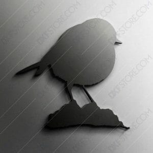 European Robin Free DXF File For CNC Plasma