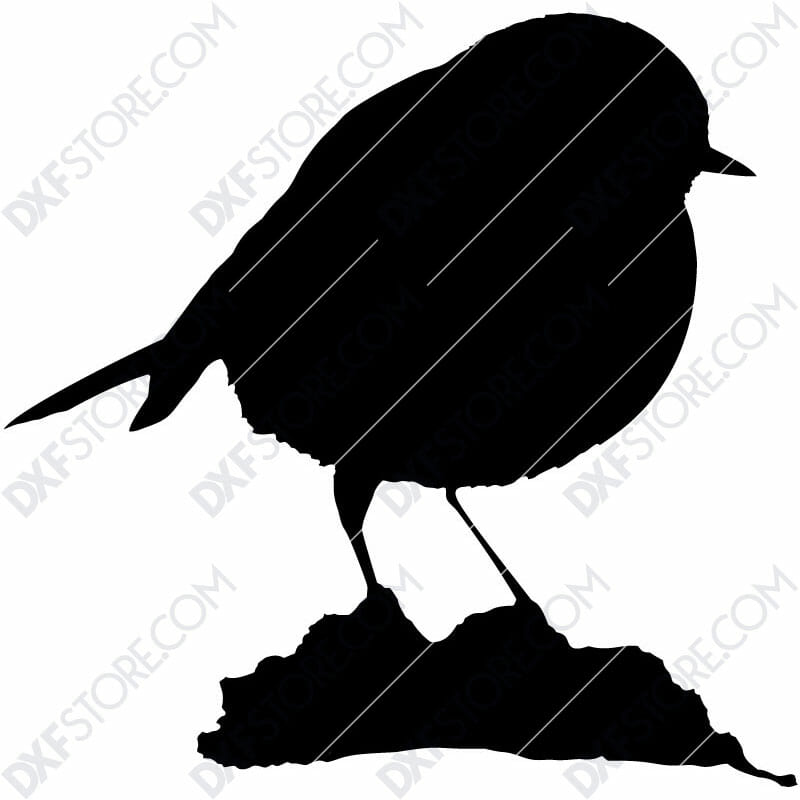 European Robin Free DXF File For Laser Cutting