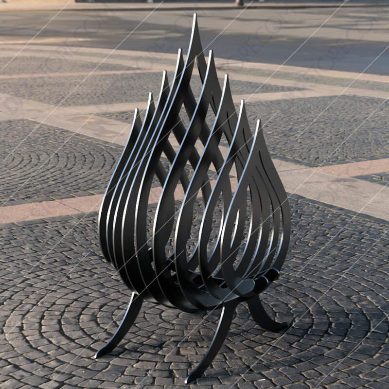 Fire Flame Fire Pit Collapsible Portable Fire Pit No Welding Needed Downloadable Plasma Cut DXF File