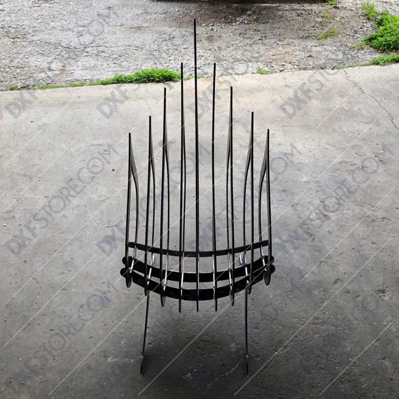 Fire Flame Fire Pit Collapsible Portable Fire Pit No Welding Needed Plasma and Laser Cut Downloadable DXF File