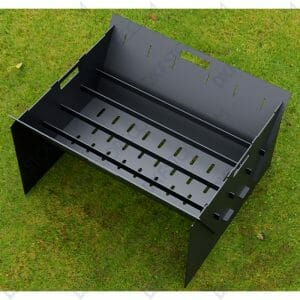 Fire Pit Collapsible Fire Pit BBQ Portable Outdoor Backyard and Camp Cooker Laser Cut