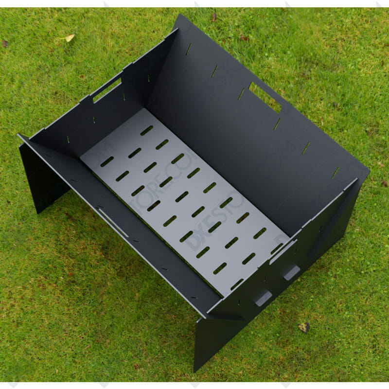 Fire Pit Collapsible Fire Pit BBQ Portable Outdoor Backyard and Camp Cooker for Plasma Cut