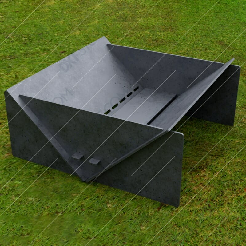 Fire Pit Collapsible Modern Minimalist Fire Pit 20*20*8 in CNC plasma DXF Files
