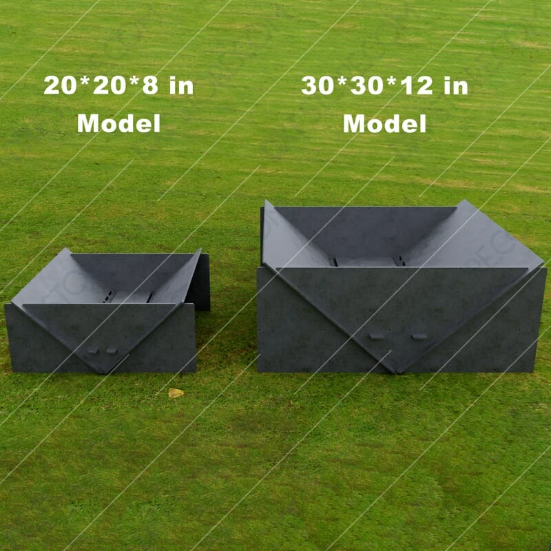 Fire Pit Collapsible Modern Minimalist Fire Pit 20*20*8 in Plasma Art and Laser Cut DXF File for CNC