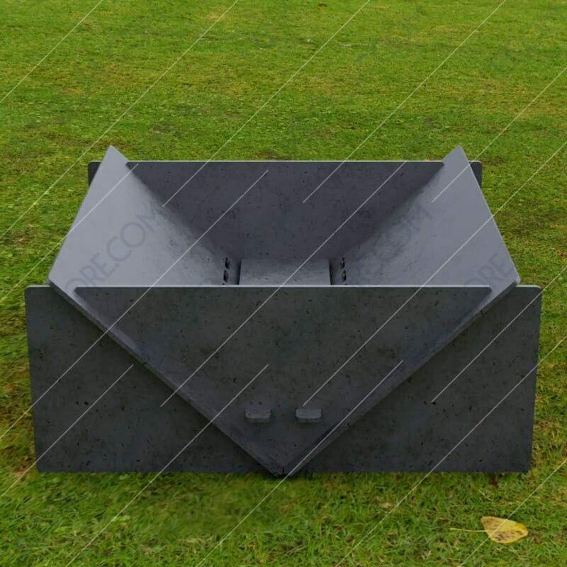 Fire Pit Collapsible Modern Minimalist Fire Pit 20*20*8 in Plasma Cut DXF File Cut-Ready