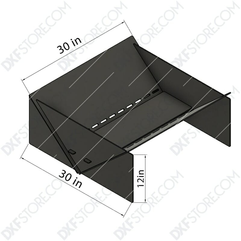 Fire Pit Collapsible Modern Minimalist Fire Pit CNC DXF Files