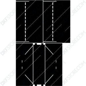 Fire Pit Collapsible Modern Minimalist Fire Pit Plasma Cut DXF File Cut-Ready