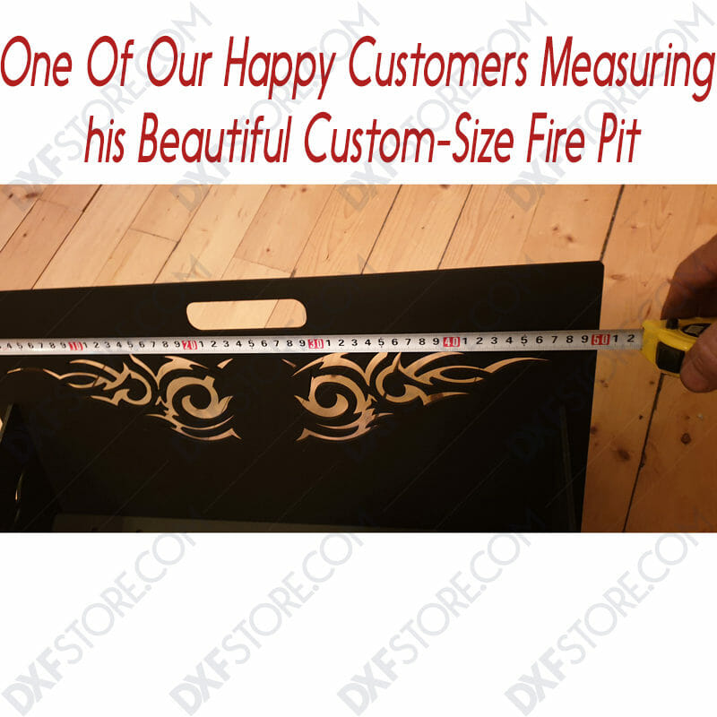 Fire Pit Collapsible Portable Ornamental Tribal Wings for CNC laser cut DXF file