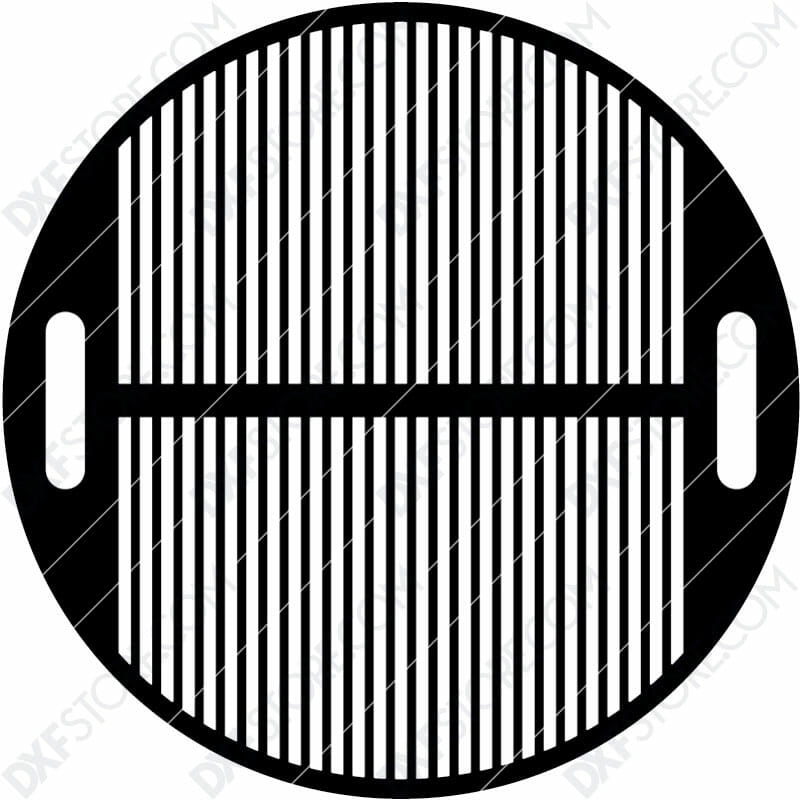 Fire Pit Grate Circular Grill 32in Custom Order Cut-Ready Plasma Cut DXF File Download for CNC Plasma and Laser Cut