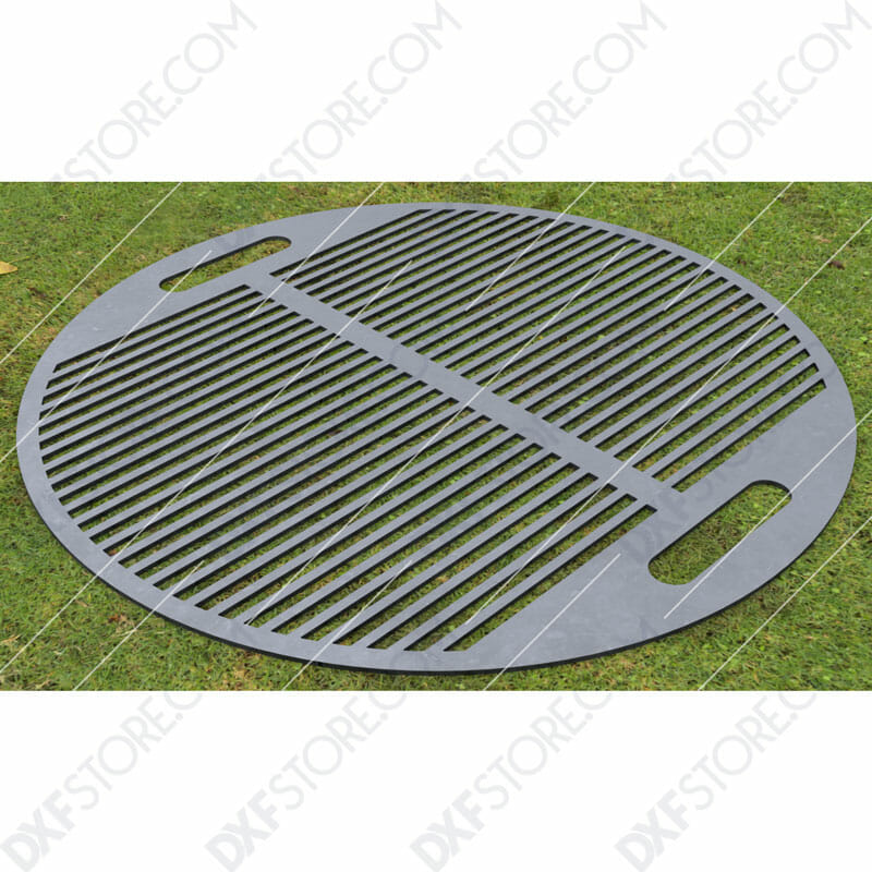 Fire Pit Grate Circular Grill 32in Custom Order DXF File Downloadable DXF for CNC Plasma DXF Files Download