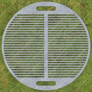 Fire Pit Grate Circular Grill 32in Custom Order DXF File Plasma and Laser Cut for CNC Laser and Plasma Cutter